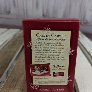 Hallmark Holiday - Hallmark keepsake ornament xmas tree Calvin bear C